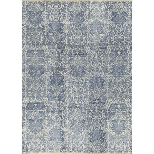 One-of-a-Kind Hand-Knotted Gray/Blue Area Rug by Bokara Rug Co., Inc.