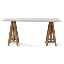 Buckskin Cover Console Table by Sarreid Ltd