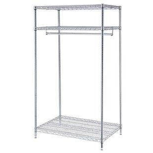 Affordable 3 Shelf Garment Floor Rack By Nexel