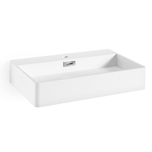 Momon Stone Rectangular Vessel Bathroom Sink with Overflow by WS Bath Collections