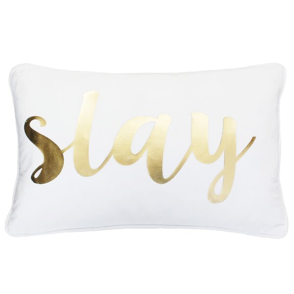 Adele Slay Script Velvet Pillow by Mercer41