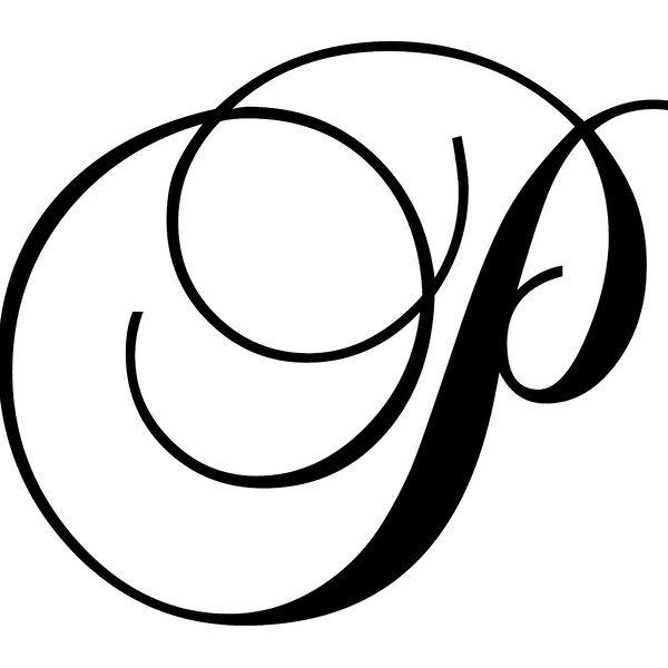 Letter P Wall Decal by Enchantingly Elegant