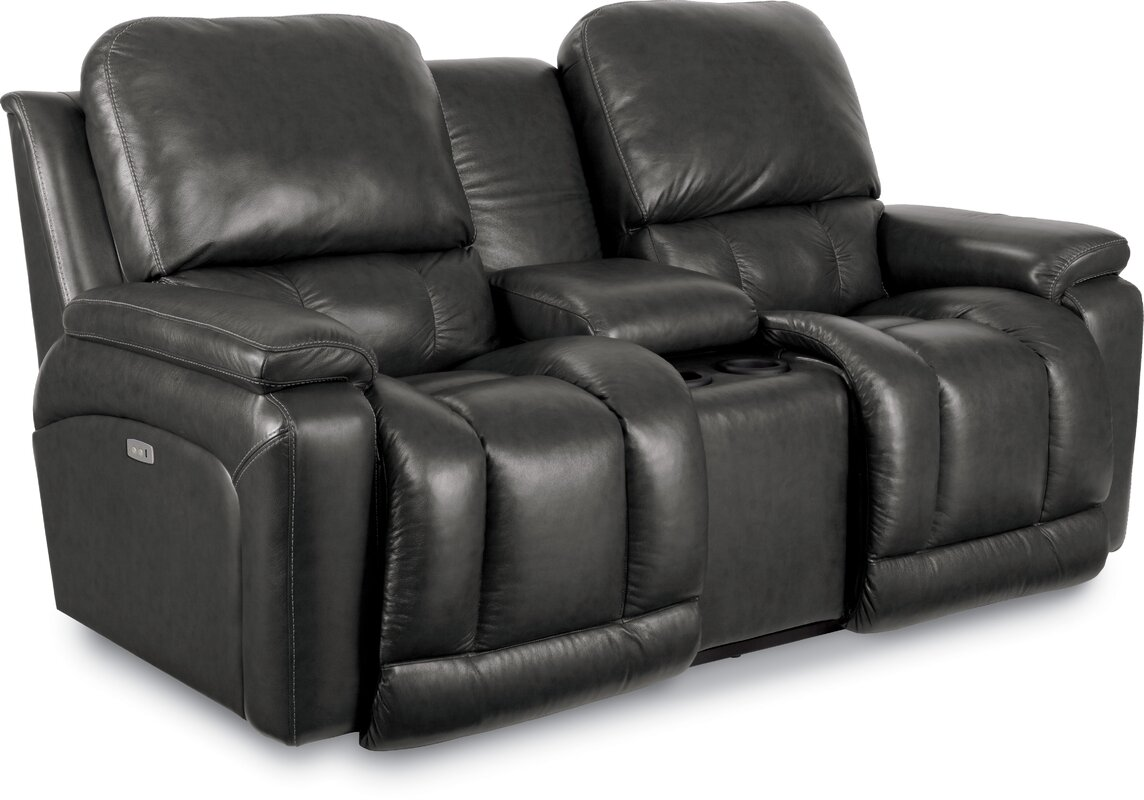 Greyson Leather Reclining Sofa  sc 1 st  Wayfair & La-Z-Boy Greyson Leather Reclining Sofa u0026 Reviews | Wayfair islam-shia.org