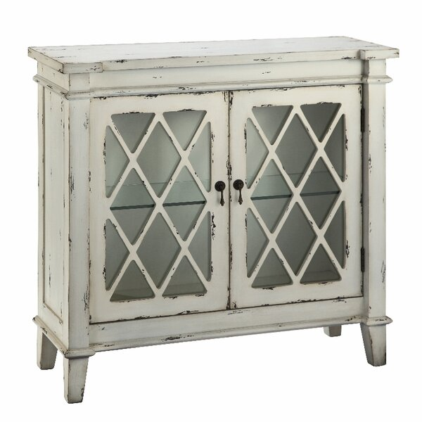 Cliffo 2 Glass Door Accent Cabinet by August Grove August Grove