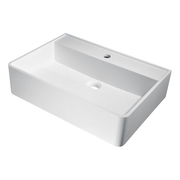 Tilia Plastic Rectangular Vessel Bathroom Sink by ANZZI