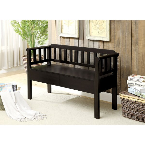 Devyn Slatted Wooden Storage Bench by Millwood Pines