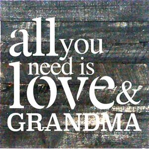 'All You Need is Love and Grandpa' by Tonya Gunn Textual Art on Dark Wood by Artistic Reflections