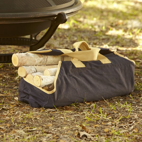 Canvas Log Carrier, Navy by Birch Lane™