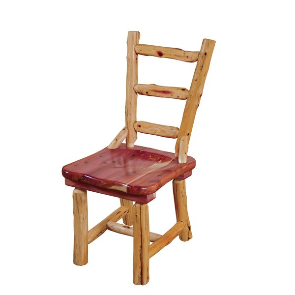 Gladeview Cedar Solid Wood Dining Chair by Loon Peak