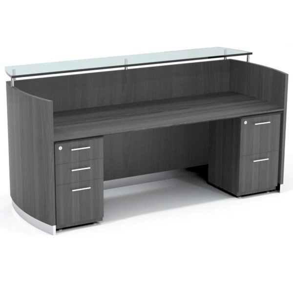 Medina Rectangular Reception Desk Suite by Mayline Group