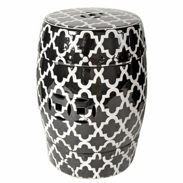Elston Finley Designed Patterned Patio Bar Stool by House of Hampton