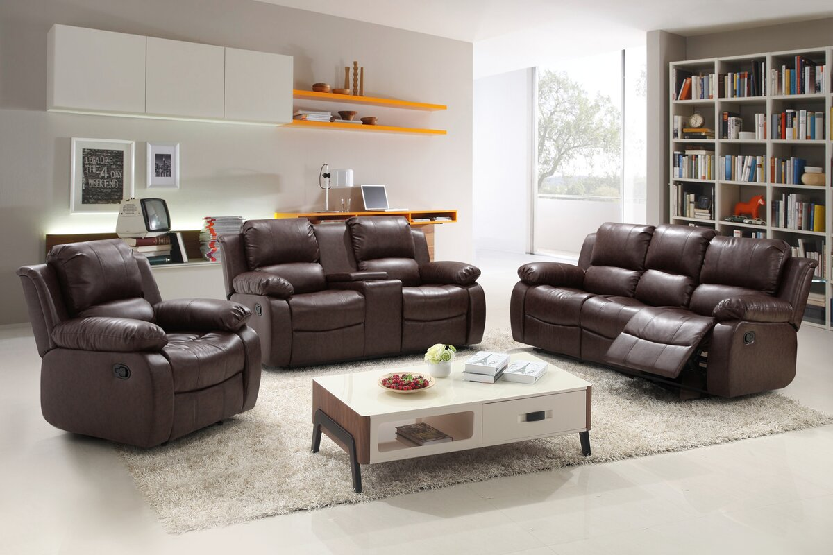 Living In Style Reno Piece Reclining Living Room Set Reviews