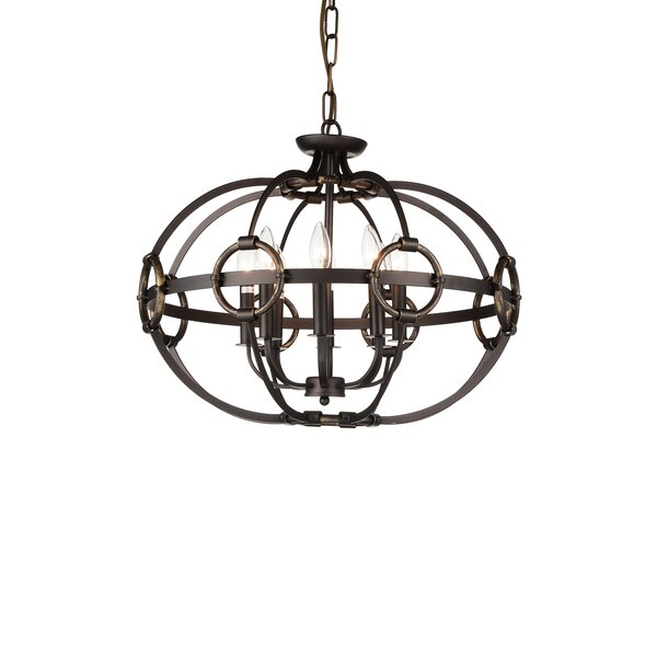 Kendrick 8-Light Unique / Statement Globe Chandelier By Breakwater Bay