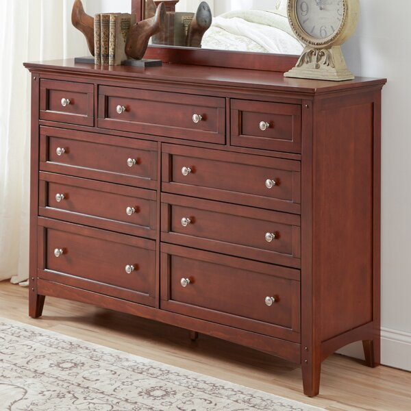 Tetrault 9 Drawer Standard Dresser by Charlton Home
