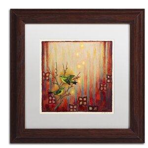 Sunset Birds by Rachel Paxton Framed Painting Print by Trademark Fine Art
