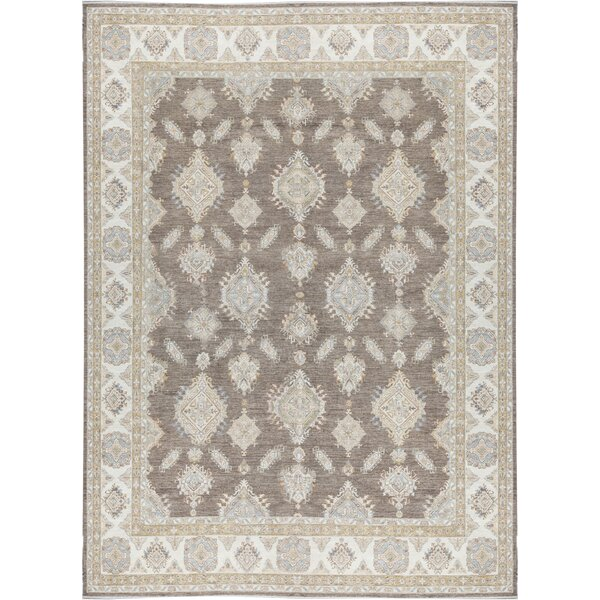 Ziegler Oriental Hand-Knotted Wool Gray Area Rug