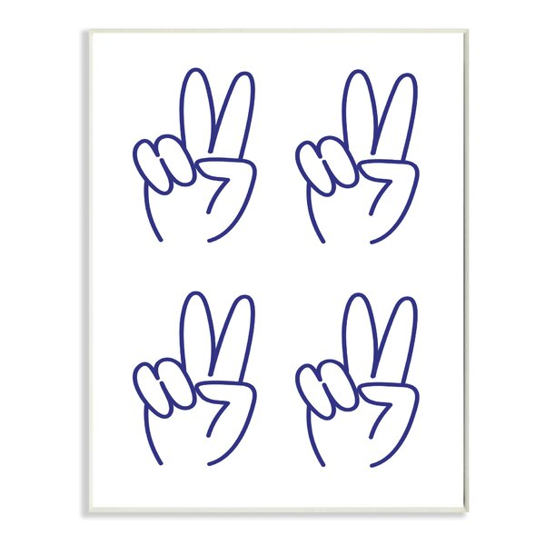 Peace Sign 4X4 Grid Graphic Art Print by Stupell Industries