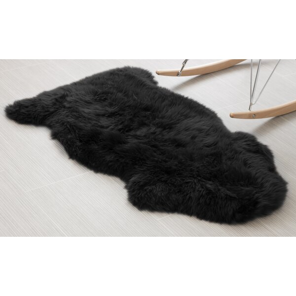 Handmade Black Area Rug by Super Area Rugs