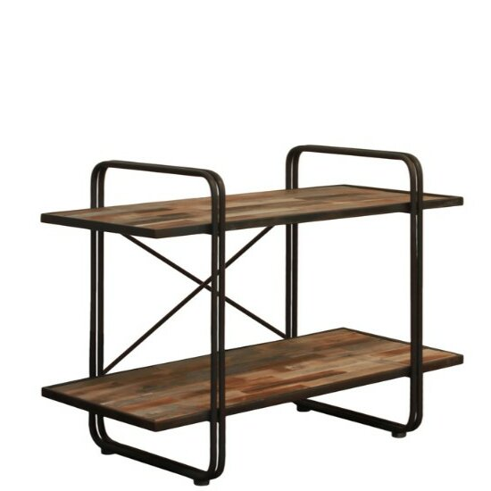 Duffy Wood and Metal 2-Tier Rectangular Standard Bookcase by Williston Forge