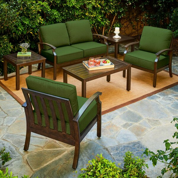 Yandel Bridgeport 6 Piece Sofa Seating Group with Cushions by Darby Home Co Darby Home Co