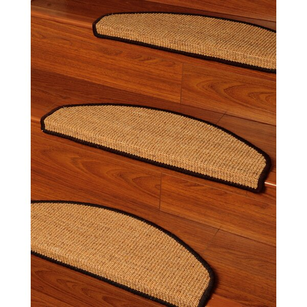 Domino Beige Euro Carpet Stair Tread (Set of 13) by Natural Area Rugs