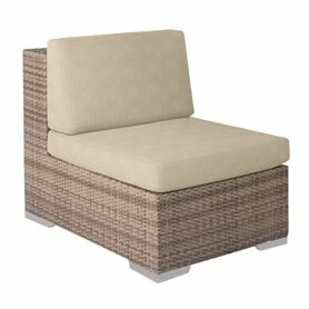 Arzo Sectional Piece Patio Chair with Cushions by Tropitone