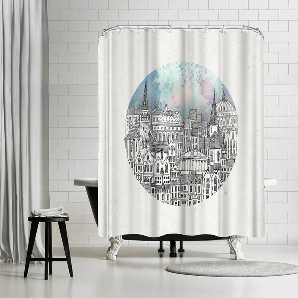 David Fleck This Dear City Shower Curtain by East Urban Home