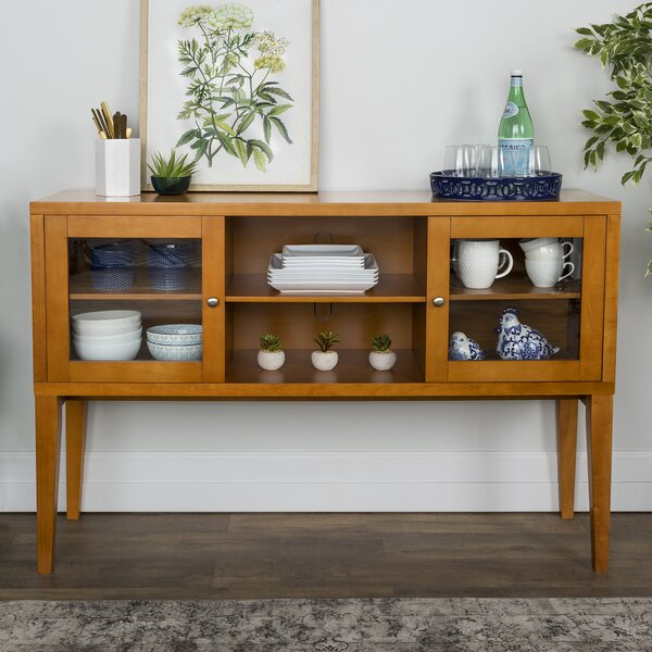 Harwood Wood Buffet Table by George Oliver