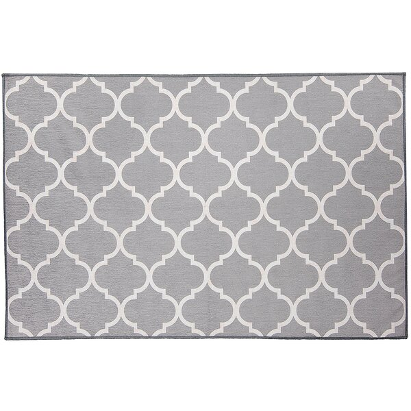 Moroccan Light Gray Area Rug by Ruggable