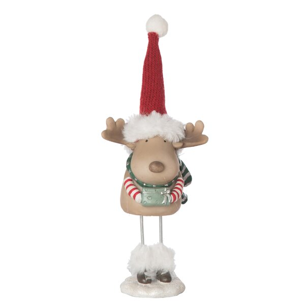 Aaron Resin Merry Fur Boot Figurine by The Holiday Aisle