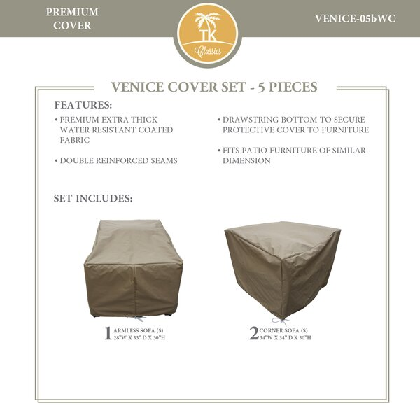 Eldredge Protective 5 Piece Water Resistant Patio Furniture Cover Set by Rosecliff Heights