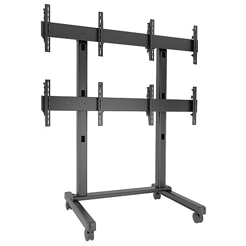 Fusion Freestanding Height Adjustable Universal 4 Screen Desk Mount by Chief Manufacturing