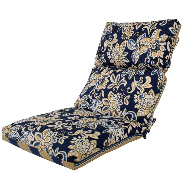 Channeled Reversible Indoor/Outdoor Lounge Chair Cushion by Comfort Classics Inc.