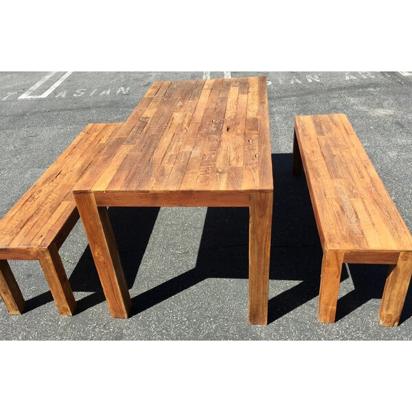Richas 3 Piece Teak Dining Set by Loon Peak