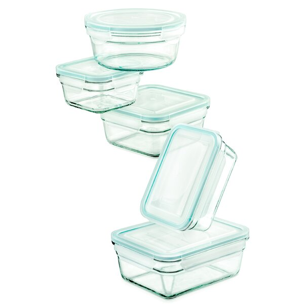 5 Container Food Storage Set by Glasslock
