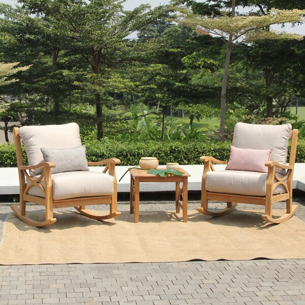 Brunswick 3 Piece Teak Seating Group with Cushions by Birch Lane™ Heritage
