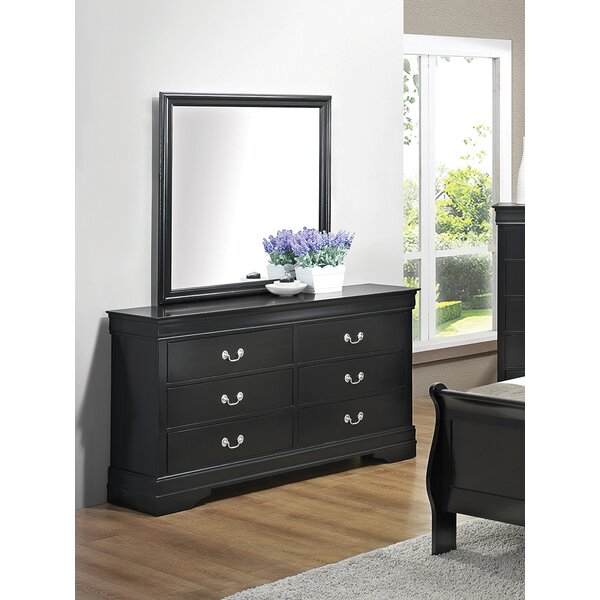 Meinhardt 6 Drawer Dresser with Mirror by Canora Grey