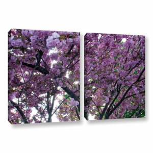 Spring Flowers by Dan Wilson 2 Piece Photographic Print on Wrapped Canvas Set by ArtWall
