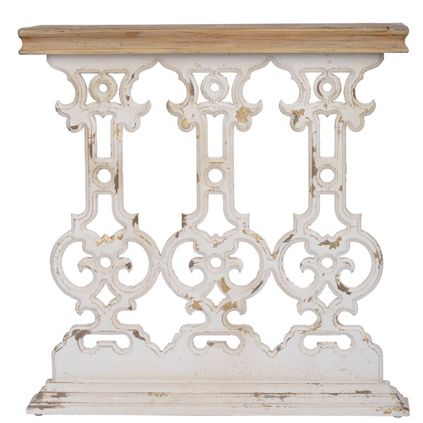 Binford Classic Vintage Console Table - White Wash By Ophelia & Co.