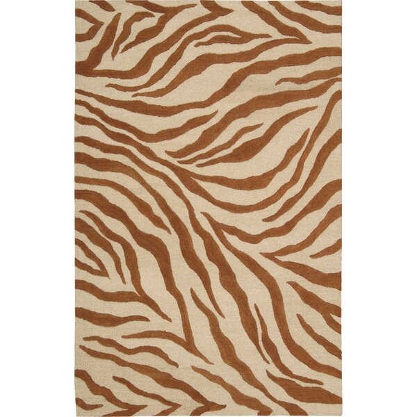 Goulmima Ivory/Rust Area Rug by World Menagerie