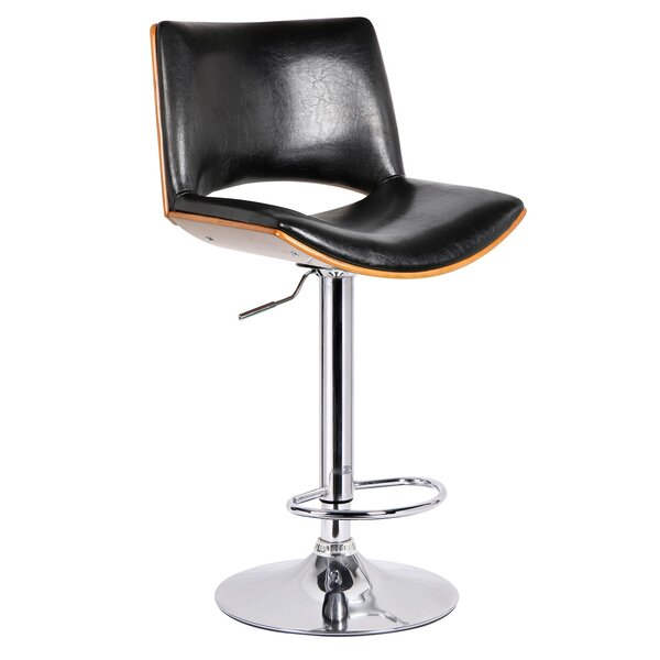 Grullon Adjustable Height Bar Stool by Orren Ellis