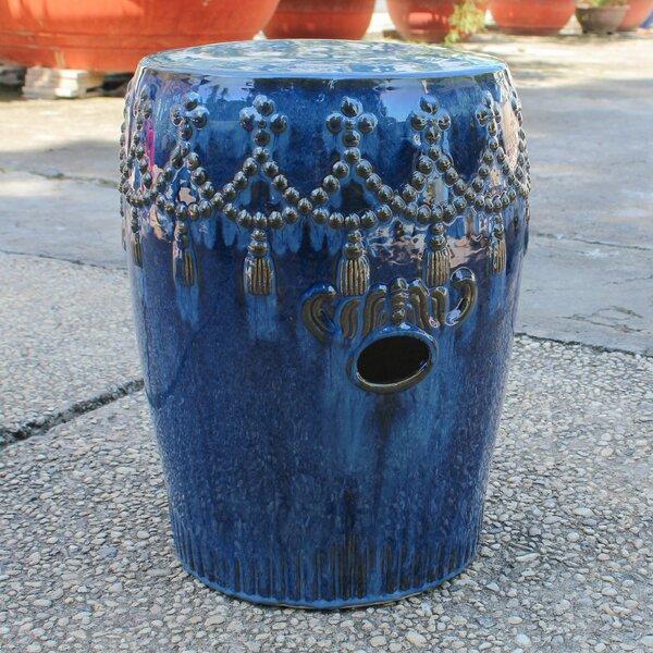 Alonsa Drum Ceramic Garden Stool by Trent Austin Design
