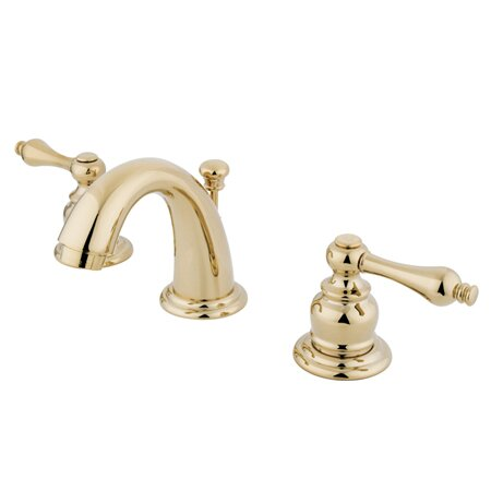 English Country Widespread faucet Bathroom Faucet with Drain Assembly by Kingston Brass