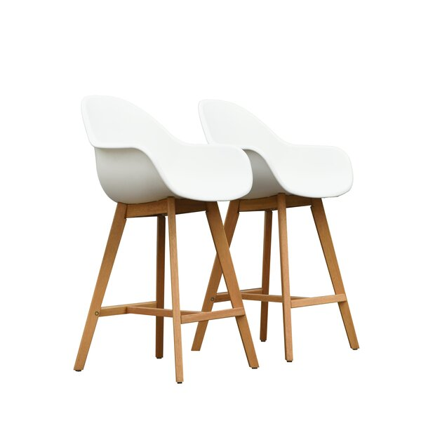 Cruce 27.5 Bar Stool with Arms (Set of 2) by Corrigan Studio
