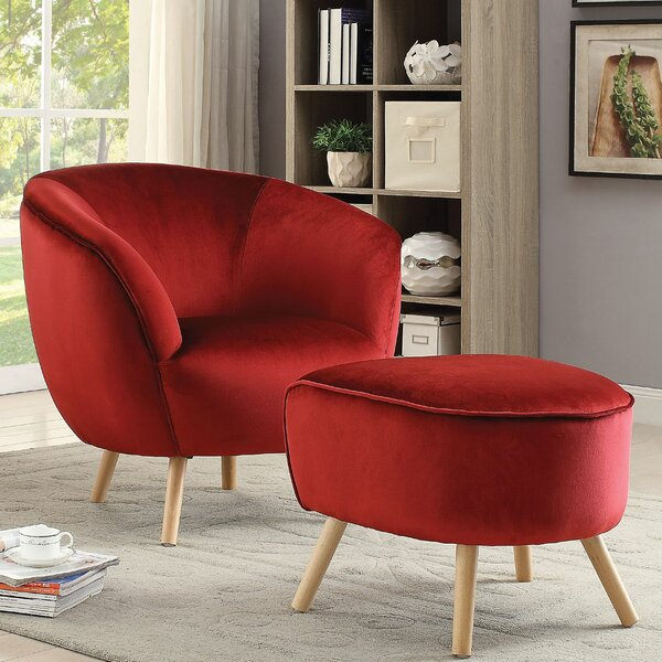 Koerner Barrel Chair by Everly Quinn