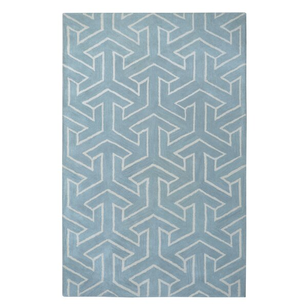 Modern Marvel Hand-Tufted Cyan Blue Area Rug by Eastern Weavers