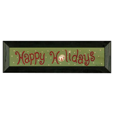 Happy Holiday by Becca Barton Framed Textual Art b