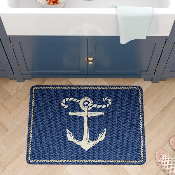 Jacksonville Anchor Kitchen Mat by Beachcrest Home