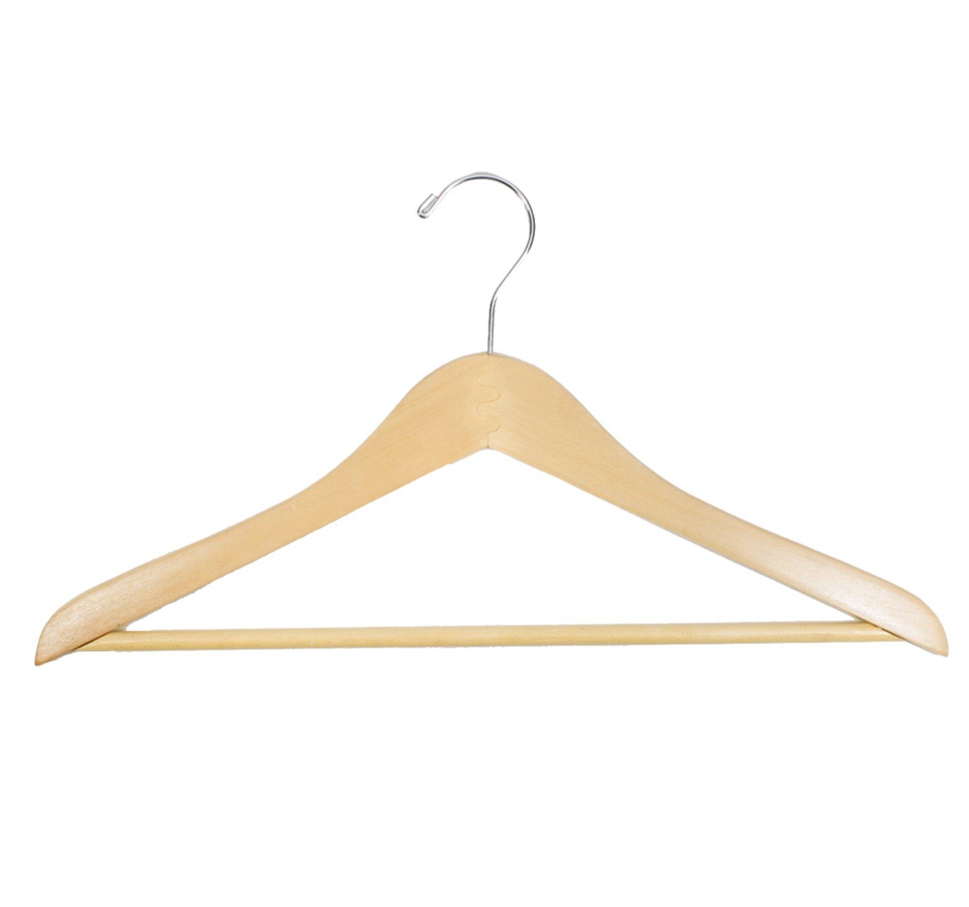 Rebrilliant Mcgarvey Wood Non Slip Standard Hanger Wayfair