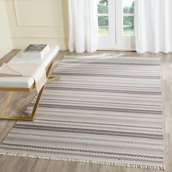 Amerina Hand-Woven Gray Area Rug by Latitude Run